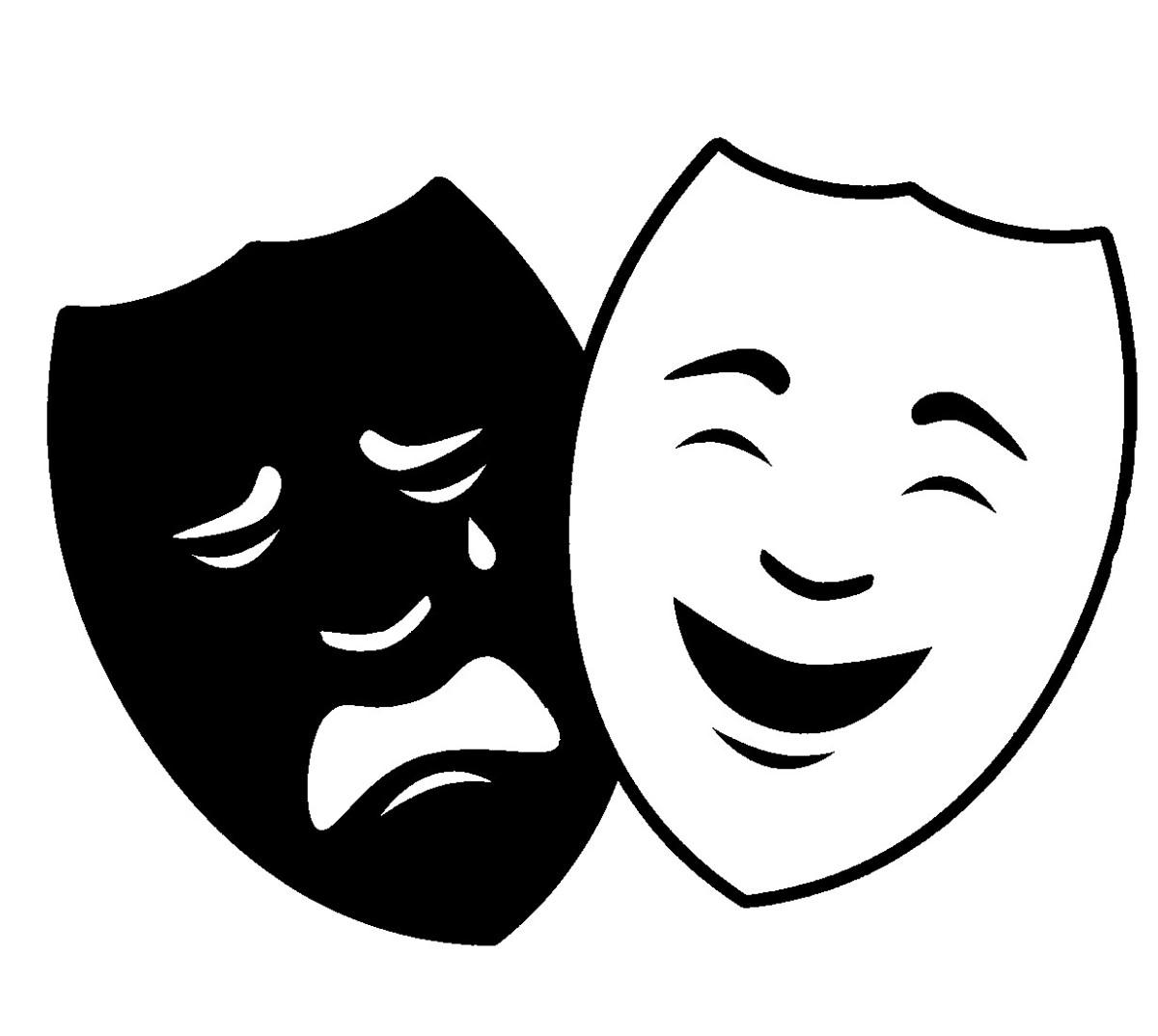 марьянова театральные маски черно белые картинки на прозрачном фоне представлена информация